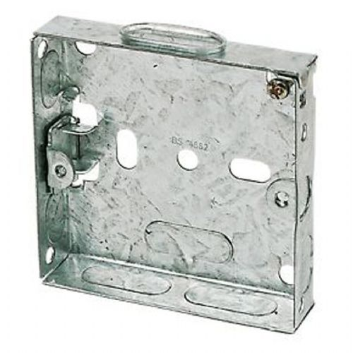 Single Metal Box 16mm deep Plaster Depth switch Box Pack of 10